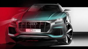 Audi Q8 Bold Front End Revealed In New Teaser Sketch
