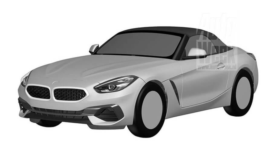 Patent images revealed 2019 BMW Z4 design