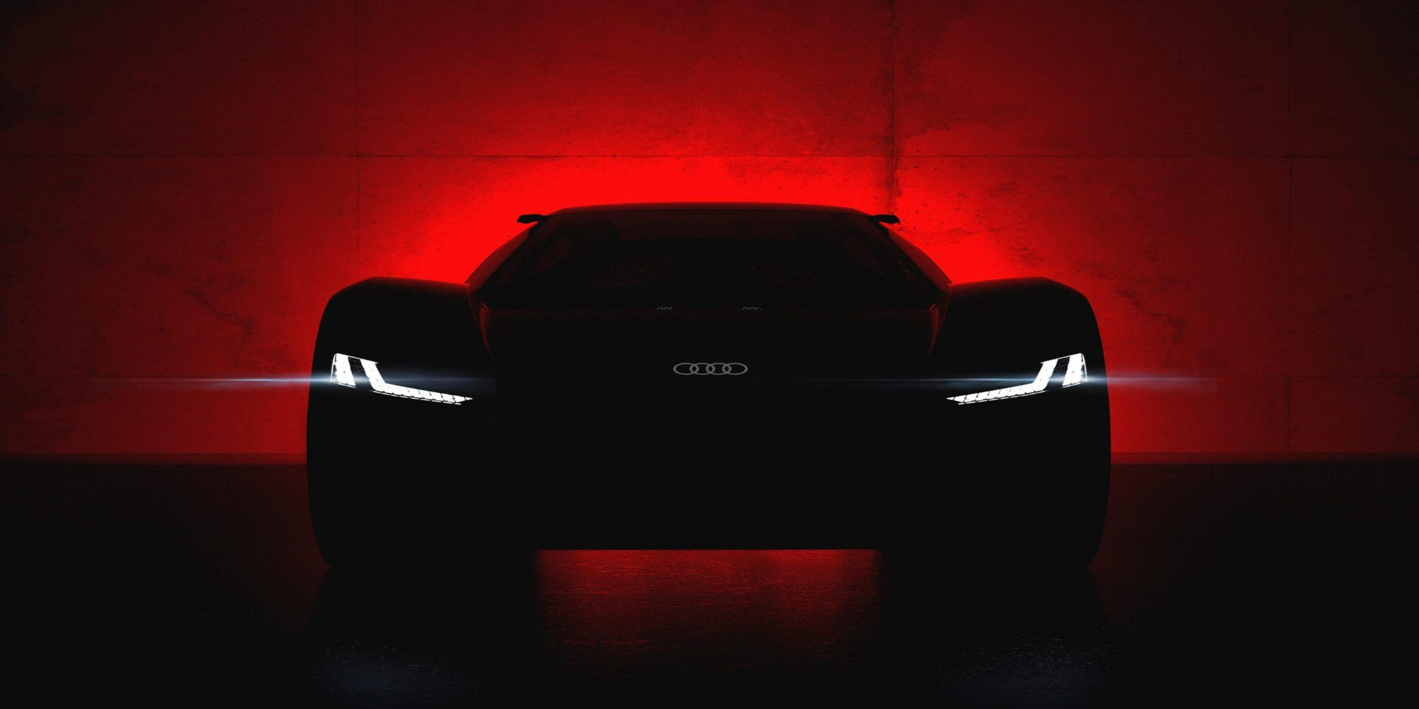 Audi showed the first teaser of the new supercar