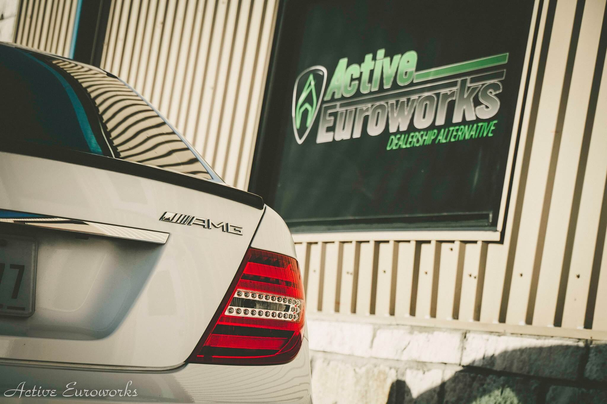 Mercedes AMG Outside Active Euroworks In Pflugerville, After Having Genuine OEM  Parts Fitted